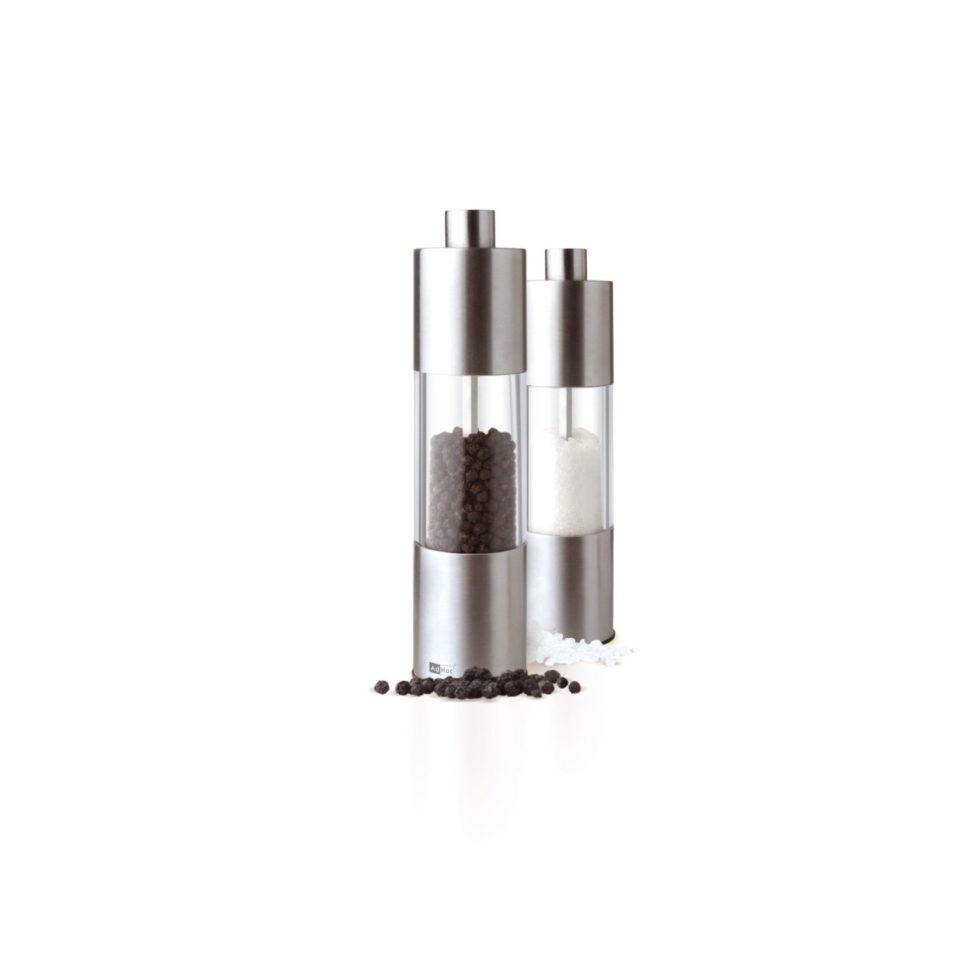 Adhoc Classic Medium Pfeffermuehle Salzmuehle Salzstreuer Gewuerzmuehlen Hochleistungsmahlwerk Edelstahl 225cm 3